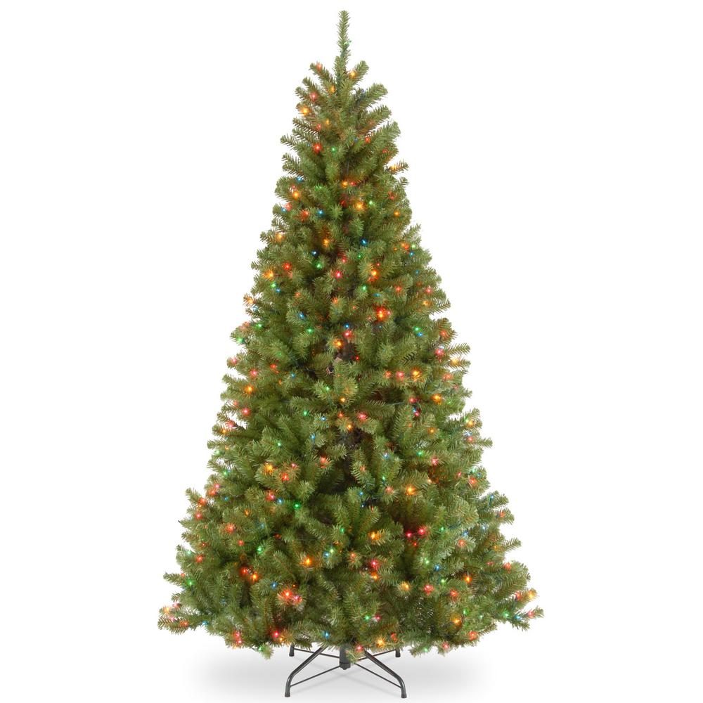national tree company 65 ft north valley spruce artificial christmas tree with multicolor lights
