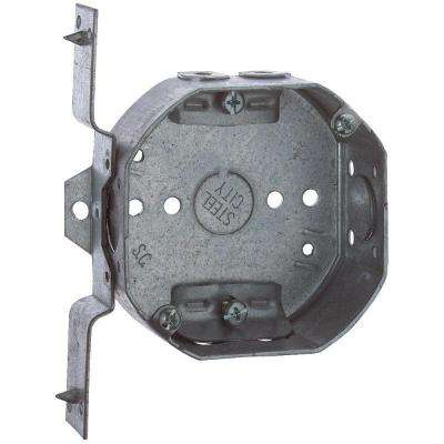 4 in. 1-1/2 in. Deep Octagon Box Box Non-Metallic with V Bracket and Cable Clamps (Case of 25)