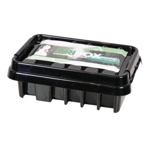 13.5 in. Weatherproof Powercord Connection Box, Black