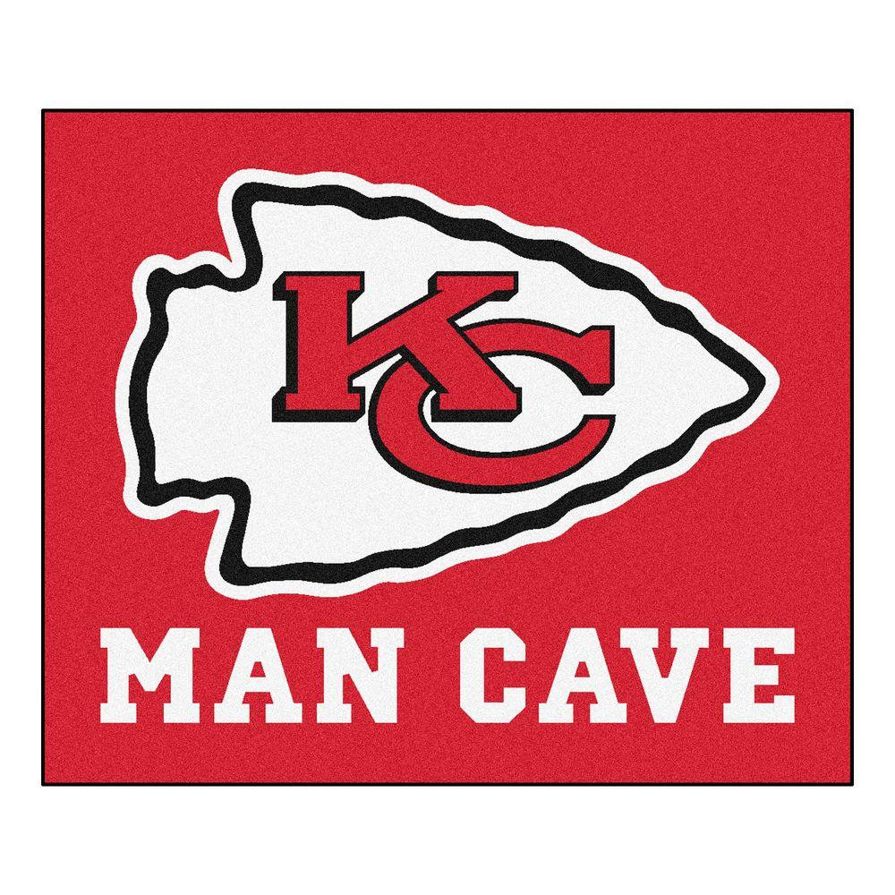 Fanmats Kansas City Chiefs Red Man Cave 5 Ft X 6 Ft Area
