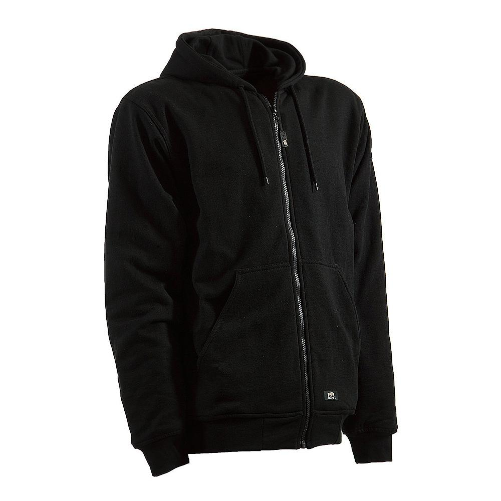Berne Men's 6 XL Regular Black 100% Polyester Original Hooded Sweatshirt
