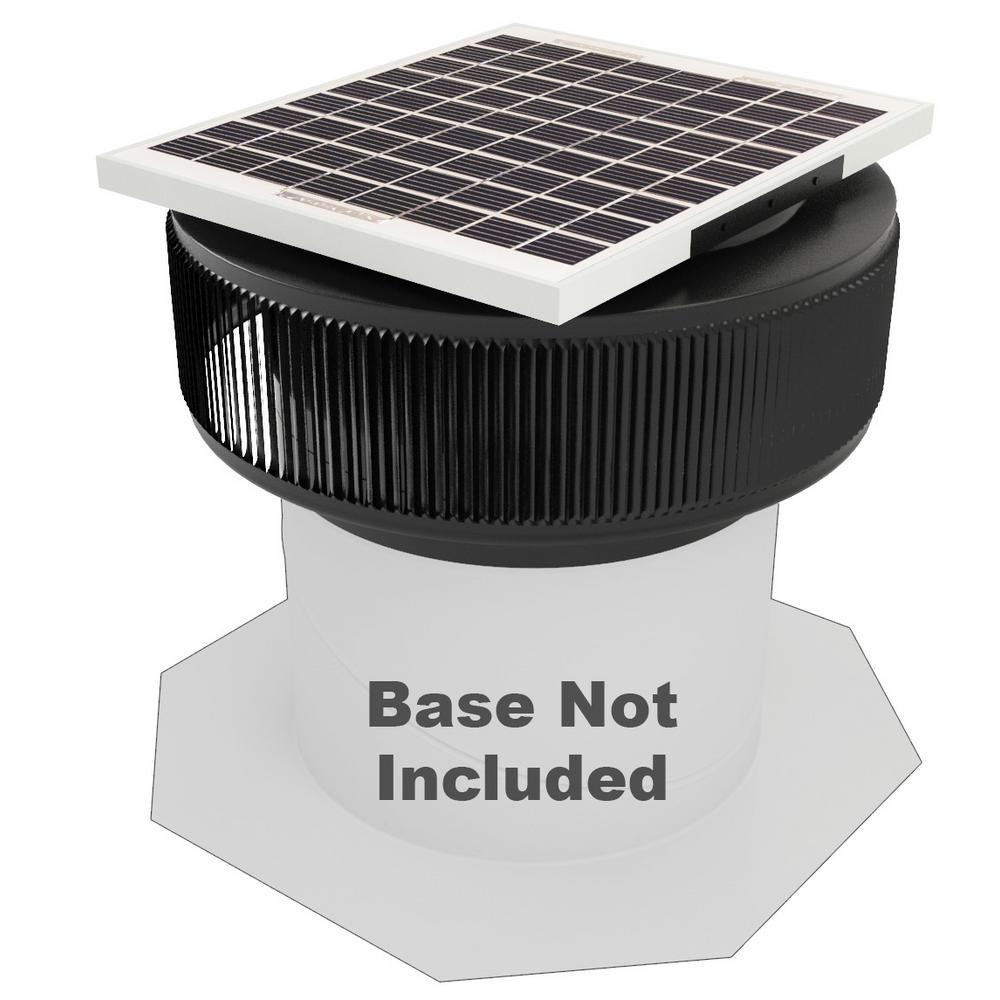 740 CFM Black Powder Coated 10-Watt Solar Powered 12 in. Dia. Retrofit Attic Roof Fan