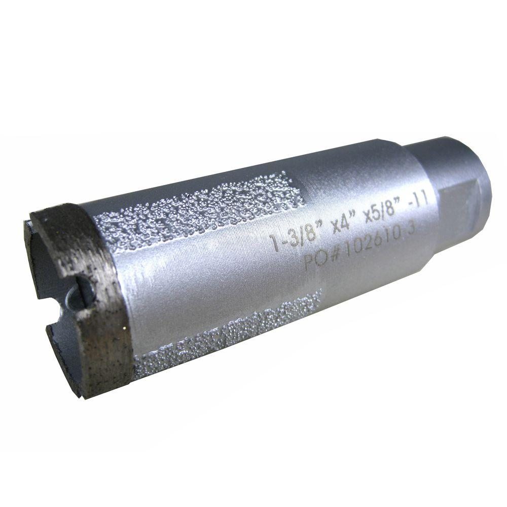 1-3/8 in. Wet Diamond Core Bit with Side Strips for Granite
