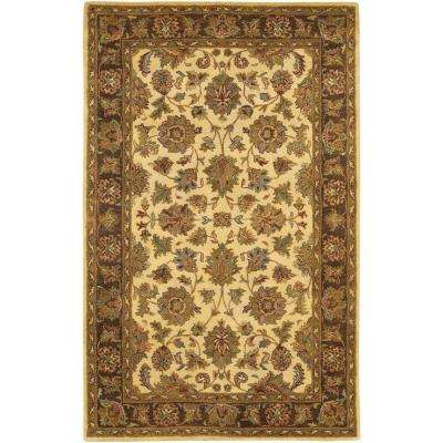 Adonia Brown/Cream/Green/Maroon 5 ft. x 7 ft. 6 in. Indoor Area Rug