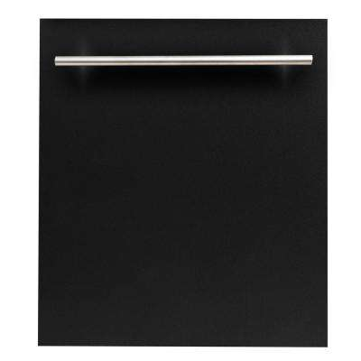 24 in. Top Control Dishwasher in Black Matte with Stainless Steel Tub and Modern Style Handle