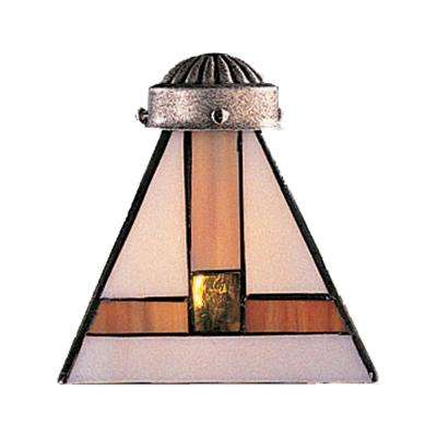 Mix-N-Match 1-Light Multicolor Tiffany Glass Shade