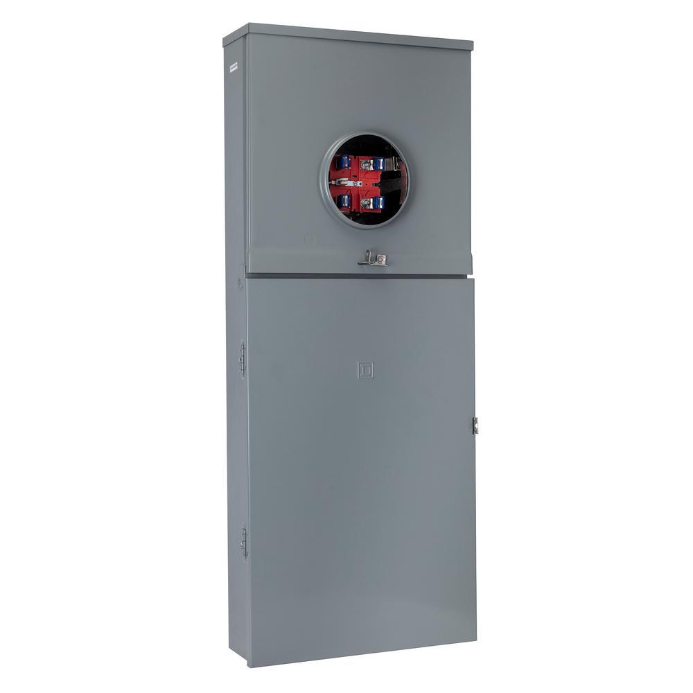 Homeline 200 Amp 30-Space 42-Circuit Outdoor Ringless Overhead/Underground Main Breaker Plug-On Neutral CSED