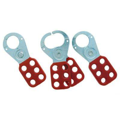 1 in. Jaw Safety Lockout Hasp (3 per Card)