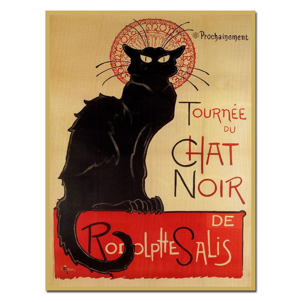 """24 in. x 32 in. """"Tournee du Chat Noir"""" Canvas Art"""
