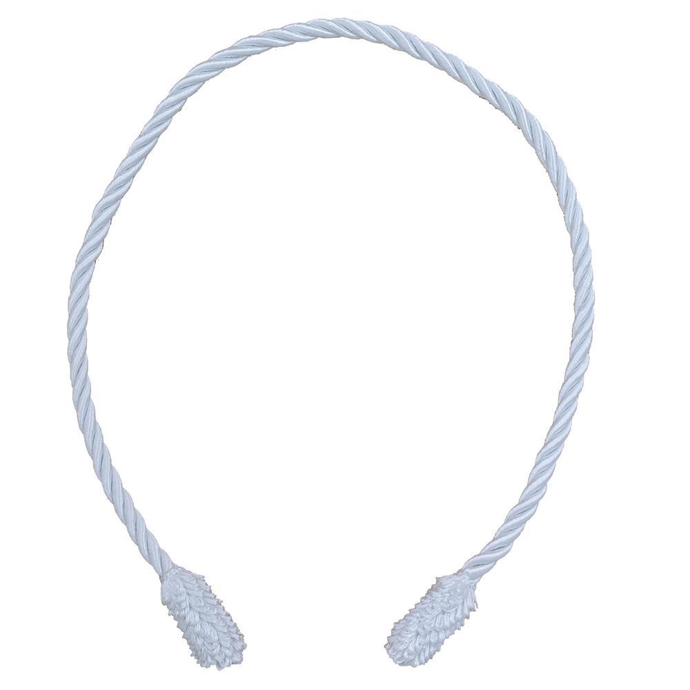 20 in. White Decorative Garland Ties