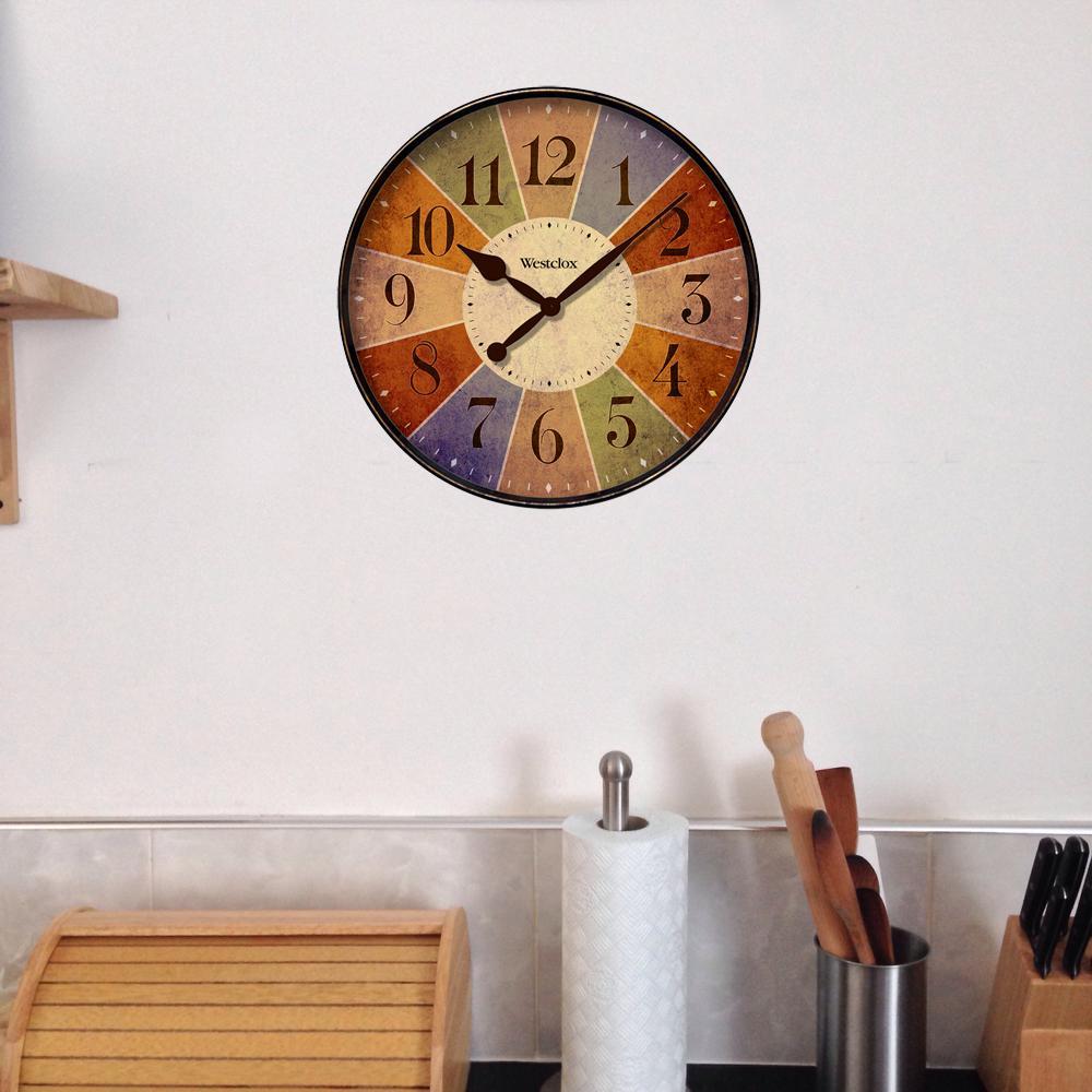 12 in. Multicolor Novelty Wall Clock