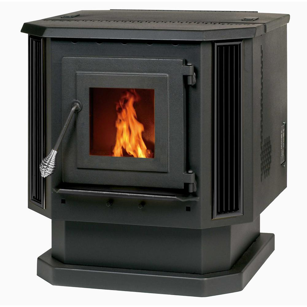 2,200 sq. ft. Pellet Stove with Black Louvers