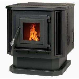 Englander 2,200 sq. ft. Pellet Stove with Black Louvers by Englander