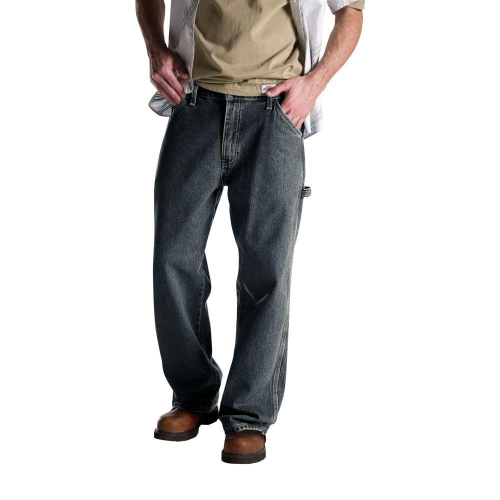 Relaxed Fit 38 in. x 32 in. Denim Utility Jean Tinted