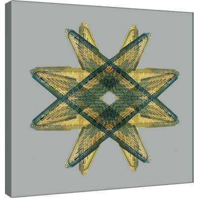15.in x 15.in ''Flatiron Medallion 1'' Printed Canvas Wall Art