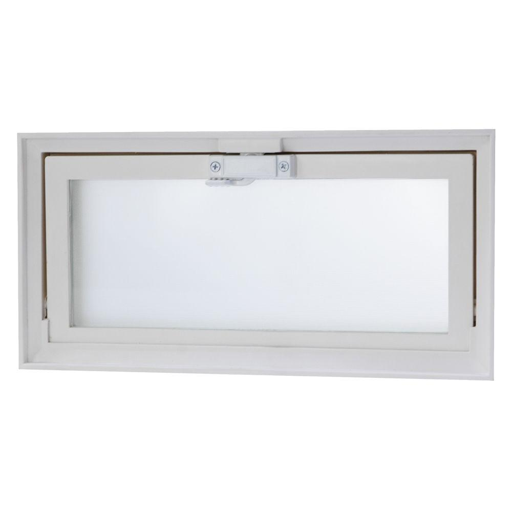 Tafco windows in x in hopper vent screen for Glass block window frame