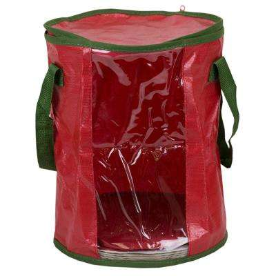 red fabric non woven light storage organizer