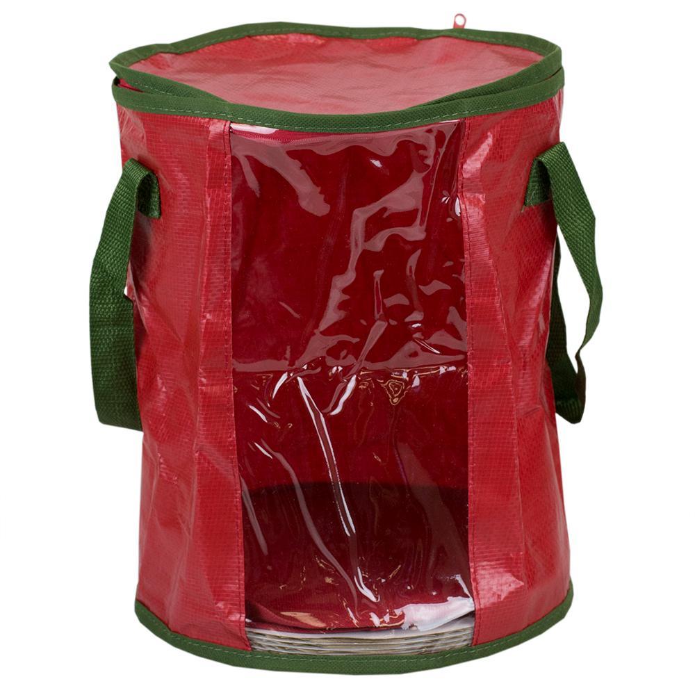 Red Fabric Non-Woven Light Storage Organizer - Christmas Light Storage - Christmas Lights - The Home Depot