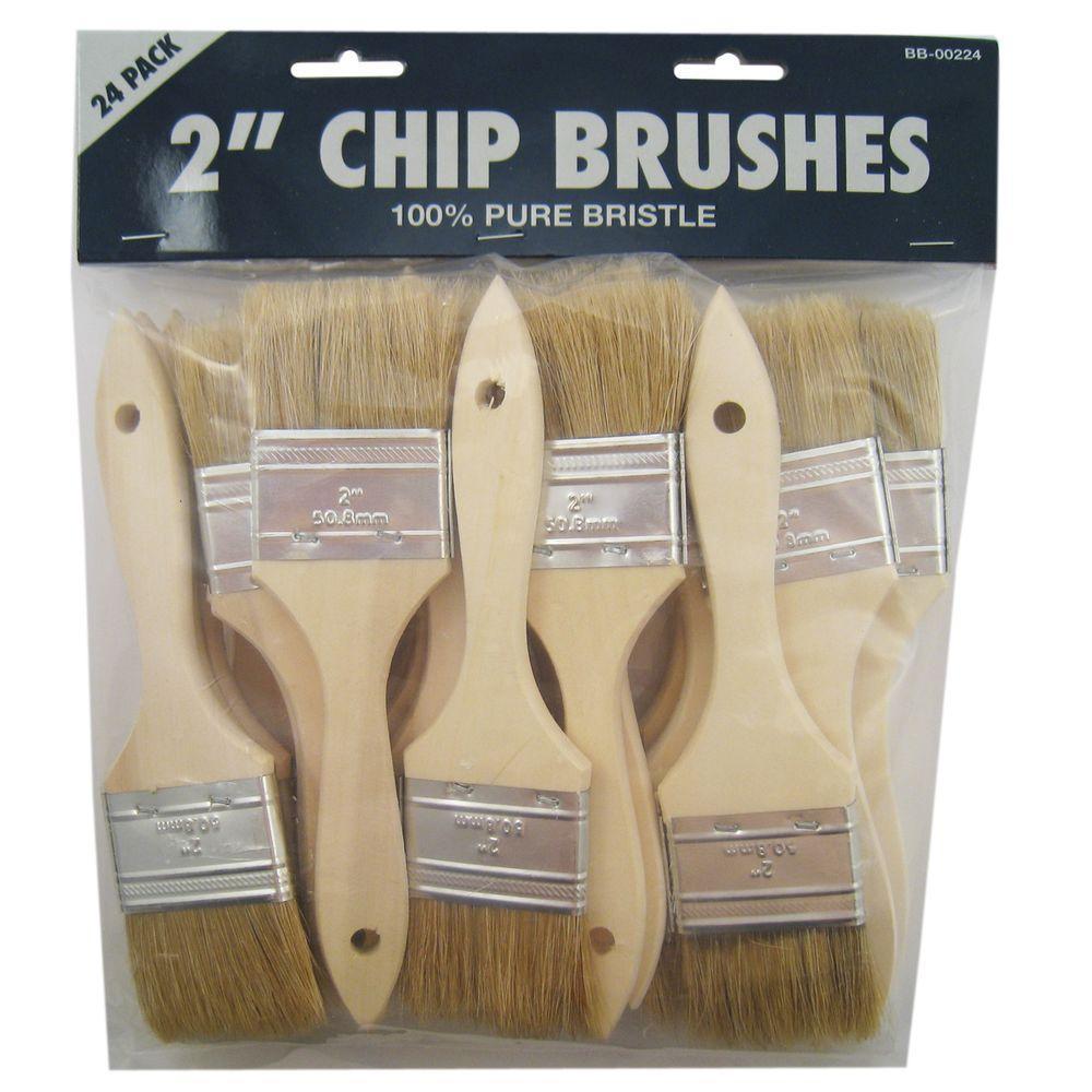24-Piece 2 in. Chip Paint Brush Set