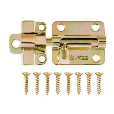 2-1/2 in. Brass Tone Self-Adjustable Barrel Bolt lock