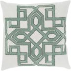 Mahesh Grey Geometric Polyester 18 in. x 18 in. Throw Pillow
