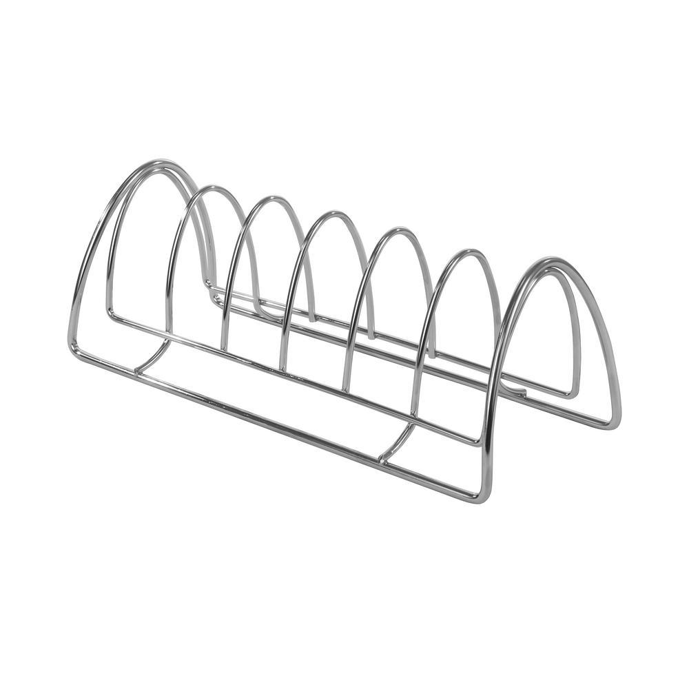 St. Louis 4.75 in. x 5.5 in. x 13 in. 6-Divider Steel Kitchen Organizer in Chrome