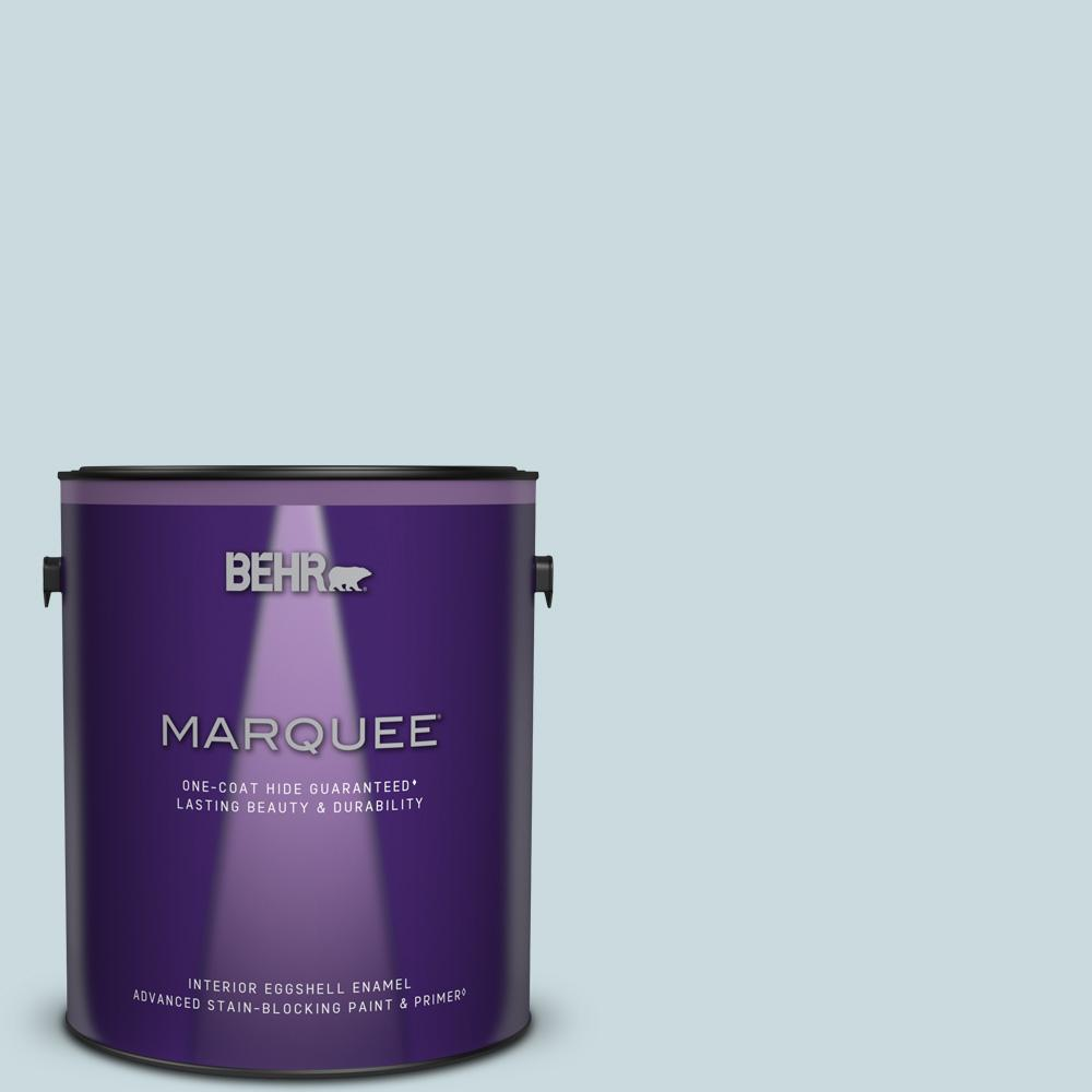 BEHR Sky Light is a beautiful light blue slightly dusty blue paint color to try. #behrskylight #paintcolors #bluepaintcolors #skyblue
