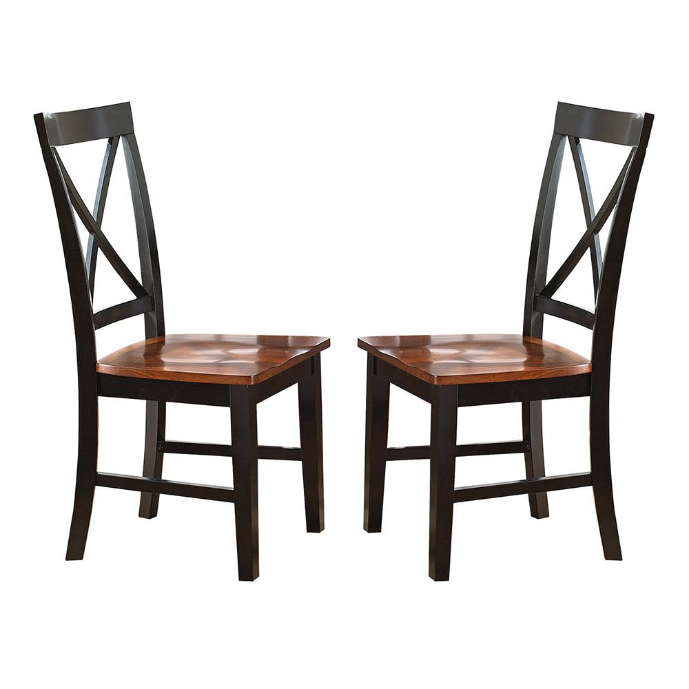 Steve Silver Company Kingston Oak/Black Side Chair (Set Of 2)
