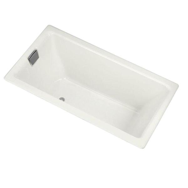 Tea-for-Two 5.5 ft. Left-Hand Drain with Integral Flange Cast Iron Bathtub in White