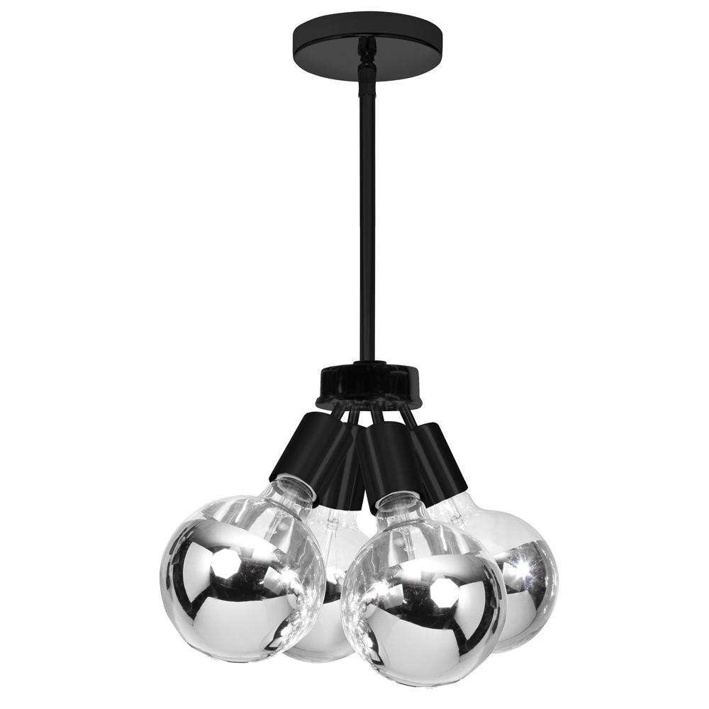 4-Light Matte Black Pendant