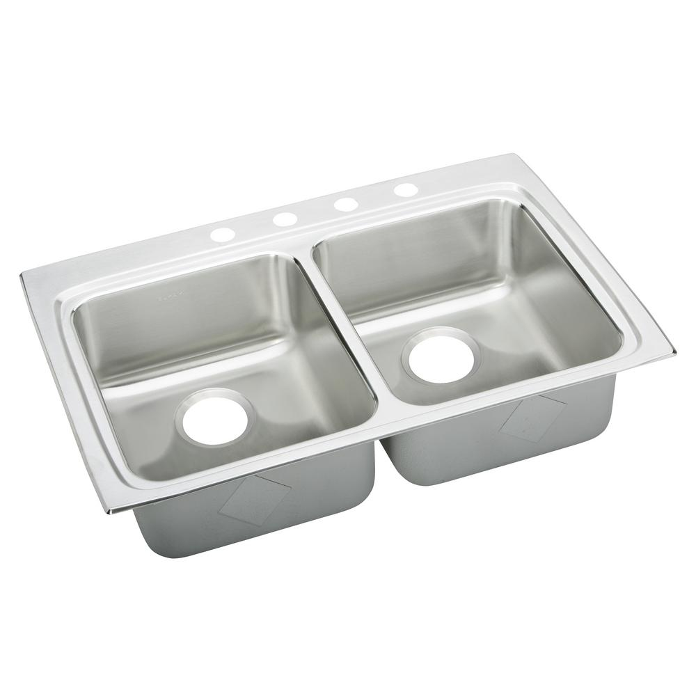 ada compliant kitchen sink elkay lustertone drop in stainless steel 33 in 4 3982