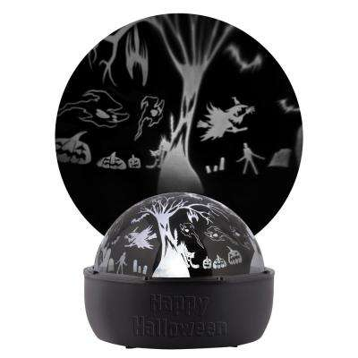 5 in. Halloween White ShadowLight Flying Tree and Witches