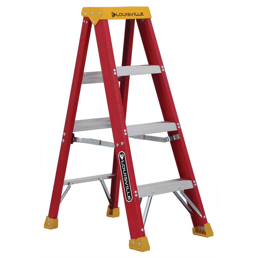 4 ft. Fiberglass Step Ladder with 300 lbs. Load Capacity Type