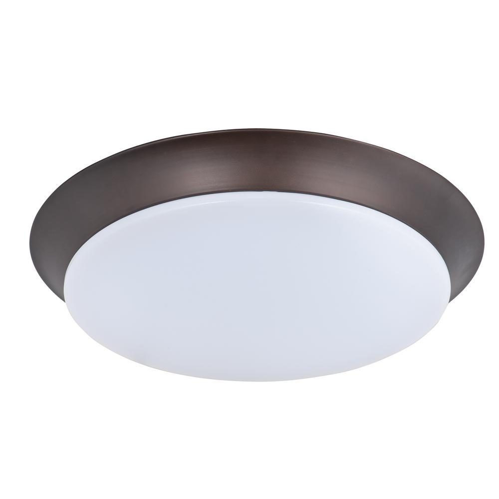Profile EE LED 1-Light Bronze Flushmount