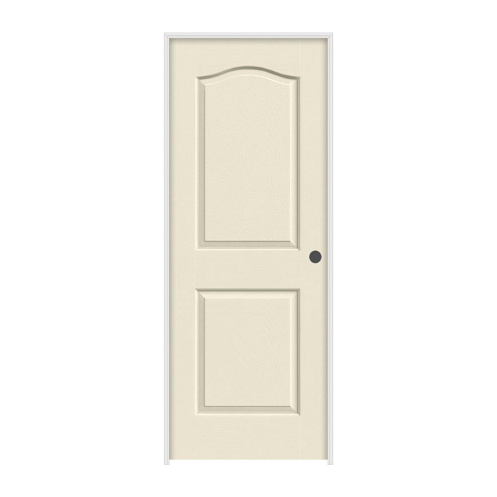 JELD-WEN 30 in. x 80 in. Princeton Primed Left-Hand Smooth Molded Composite MDF Single Prehung Interior Door