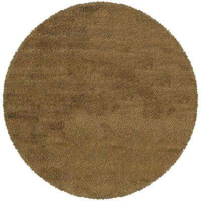 Urban Loft Gold 8 ft. x 8 ft. Round Area Rug
