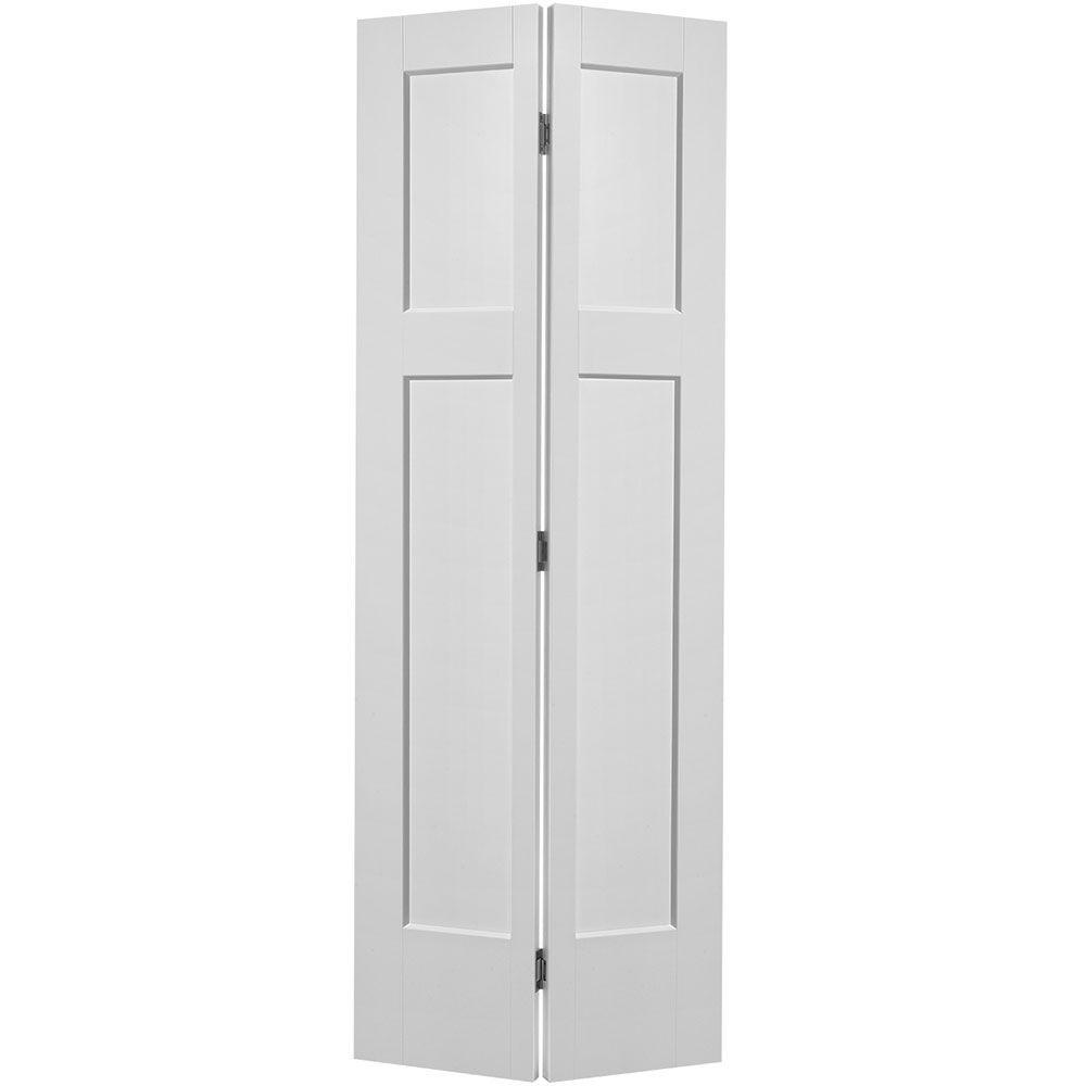 Masonite 36 in. x 80 in. Winslow 4-Panel Primed White Hollow-Core ...