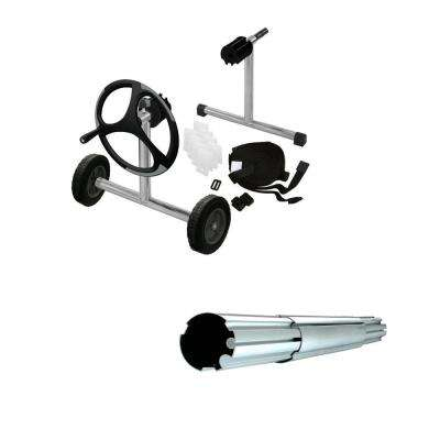In-Ground Stainless Steel Pool Cover Reel with Metal Tube Set