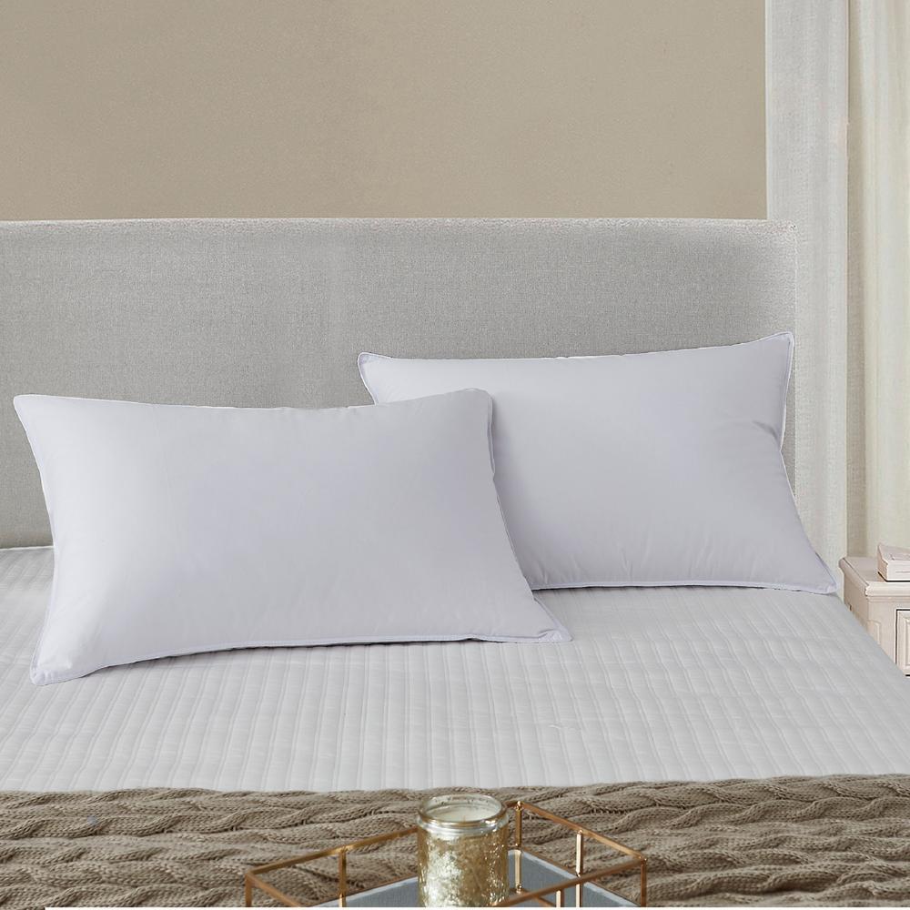 225 Thread Count Tencel Blend Medium Density Side Sleepers Jumbo Pillow (2-Pack)