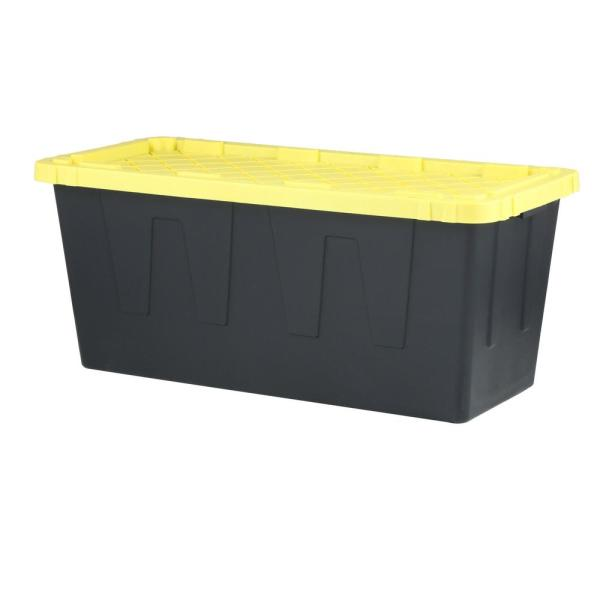 55 Gal. Tough Storage Bin in Black