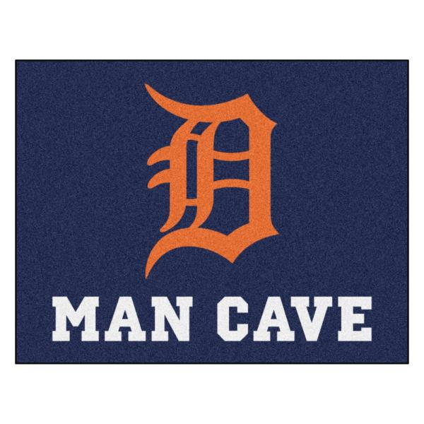 Fanmats Mlb Detroit Tigers Man Cave All Star 33 75 In X 42 5 In Indoor Area Rug 22408 The Home Depot