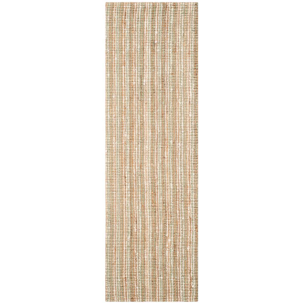 Natural Fiber Sage/Beige 3 ft. x 12 ft. Indoor Runner Rug