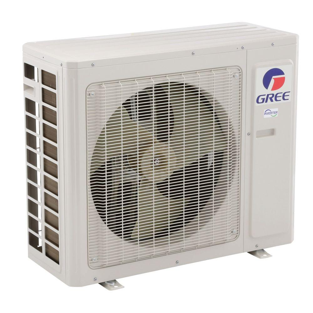GREE Premium Efficiency 36,000 BTU (3 Ton) Ductless (Duct Free) Mini Split Air Conditioner - Inverter, Heat, Remote 208-230V