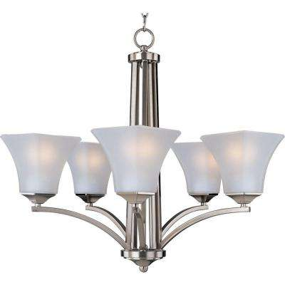 Aurora EE Satin Nickel Single-Tier Chandelier