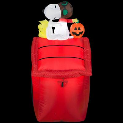 3.5 ft. H. Red Baron Halloween Airblown Peanuts Lighted Snoopy Halloween Inflatable