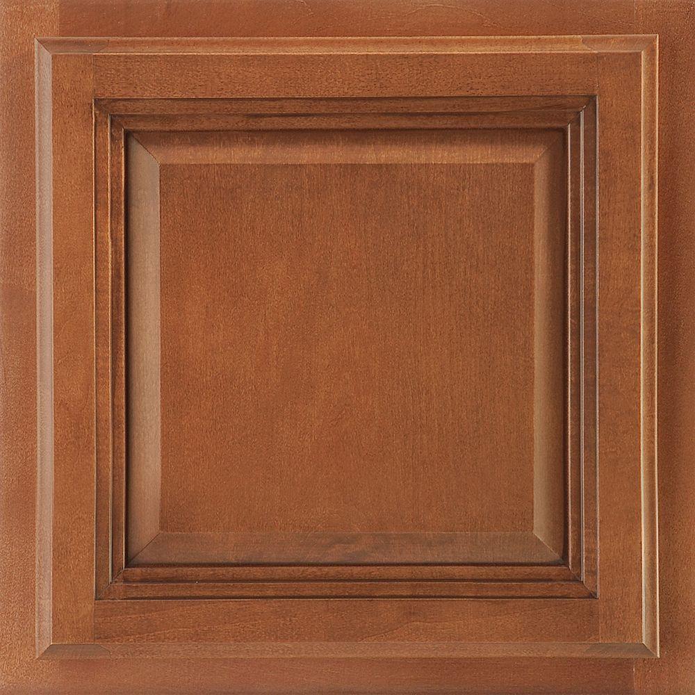 American Woodmark 13x12-7/8 in. Cabinet Door Sample in Portland Maple Auburn Glaze