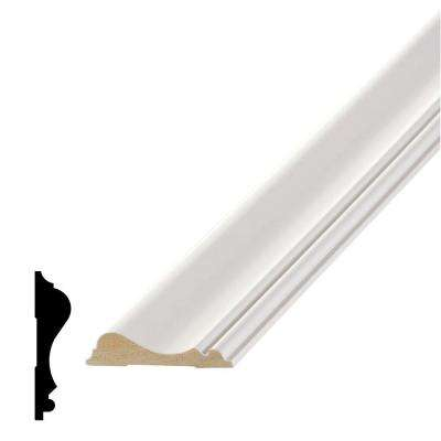 WM 390 9/16 in. x 2-5/8 in. x 96 in. Primed Medium Density Fiberboard Chair Rail Moulding