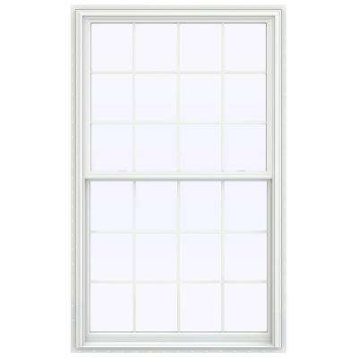 43.5 in. x 71.5 in. V-2500 Series White Vinyl Double Hung Window with Colonial Grids/Grilles