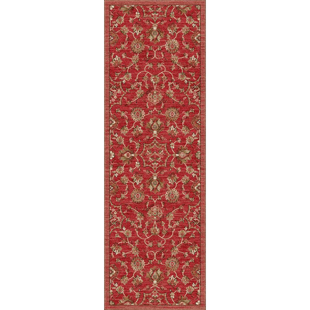 Dahlia Red 3 ft. x 12 ft. Indoor Runner Rug