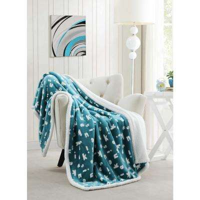 light blue throw soft blue mika light blue sherpa throw blankets home decor the depot